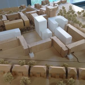 Model of new build from Queens Drive